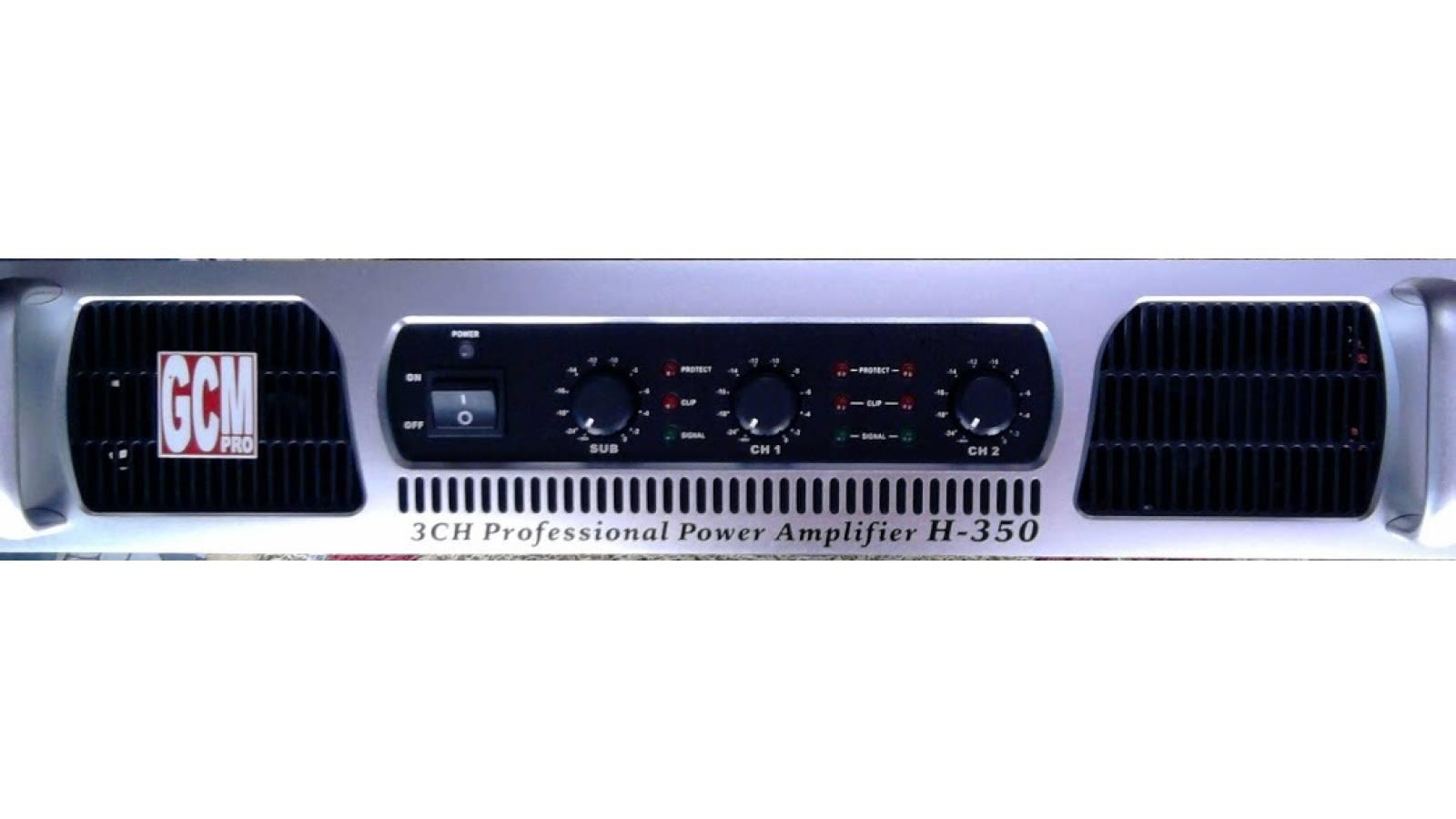 Potencia Trio GI-350 2 Satelites + Sub Gcm Pro