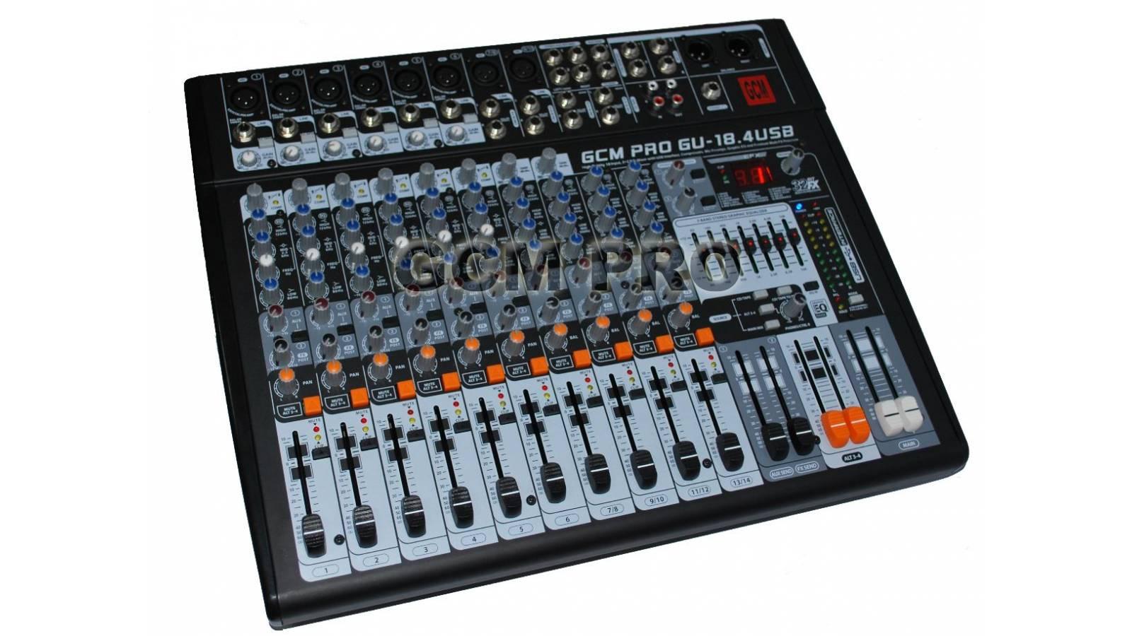 Consola 14 Canales Con Usb Gu18.4 Gcm Pro