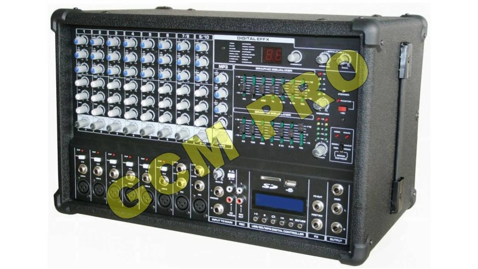 Consola Amplificada Con 10 In 600w 2 Eq+usb