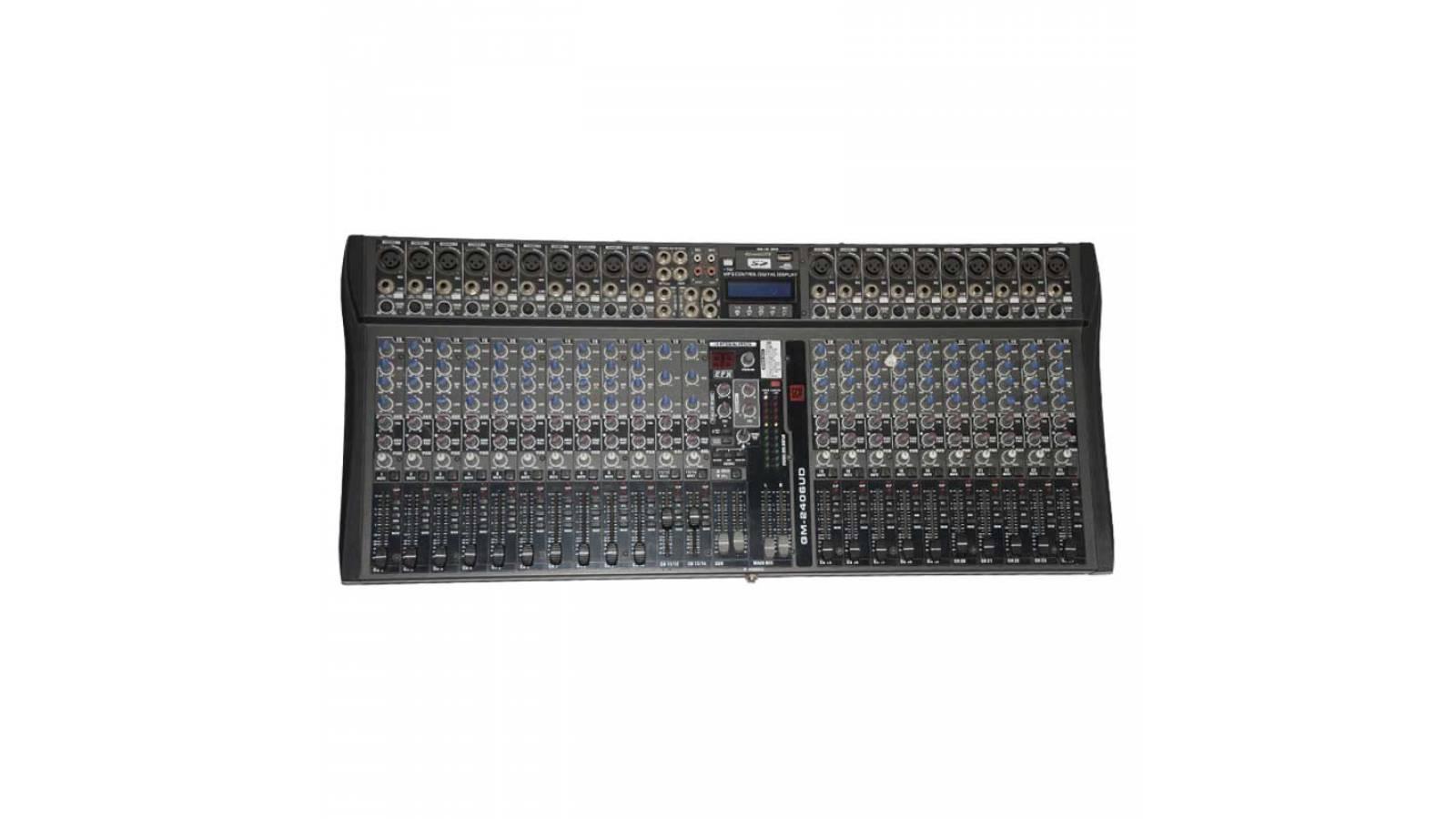Consola De 24 Canales C/entrada Usb+sd GM-2406UD GCM Pro 30% OFF