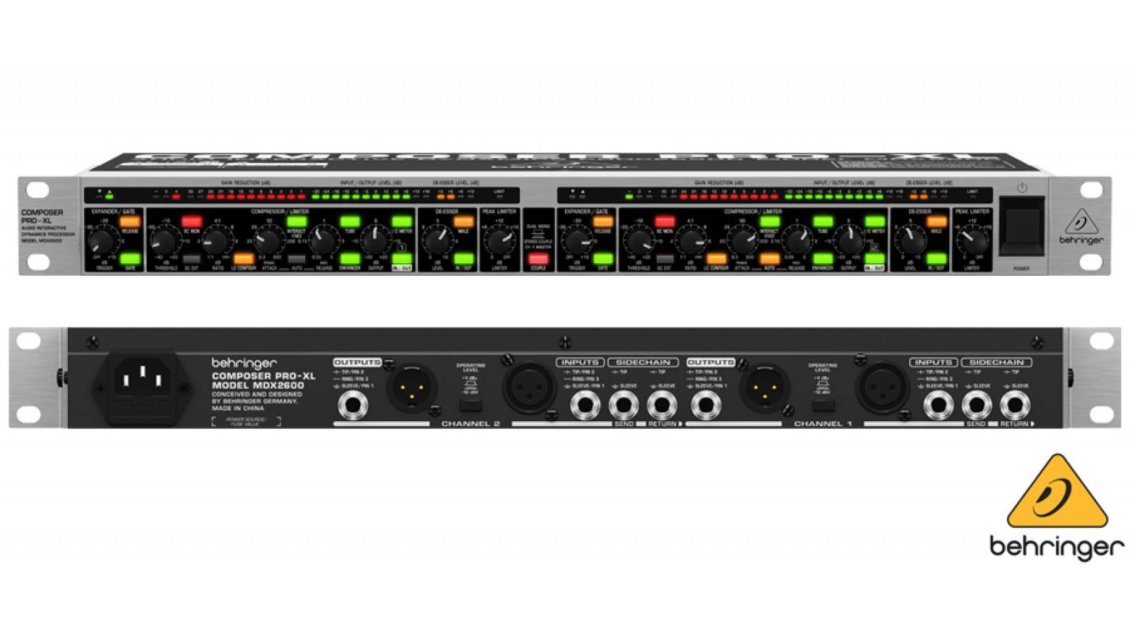 Behringer Compresor Stereo-dual Mono Mdx2600