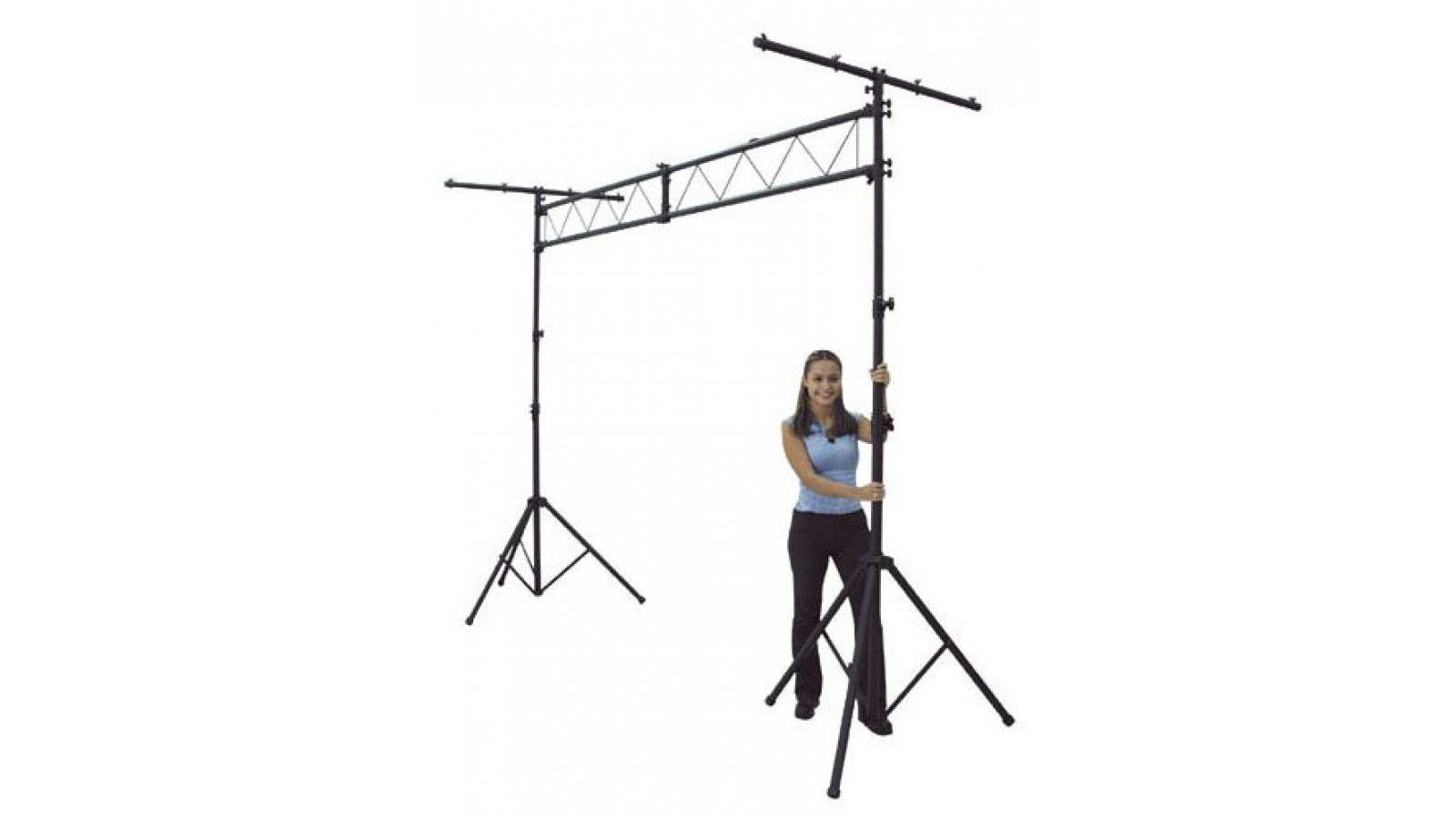 Kit 2 Pie Atril Soporte Truss Doble Pie con Cercha para Iluminación