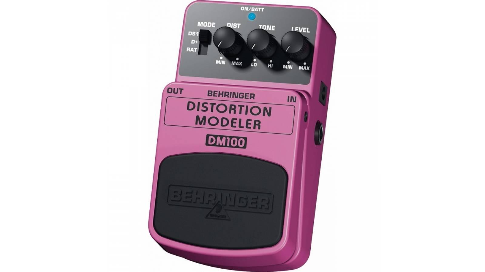 Pedal De Efectos para Guitara, Distortion Modeler Behringer DM100