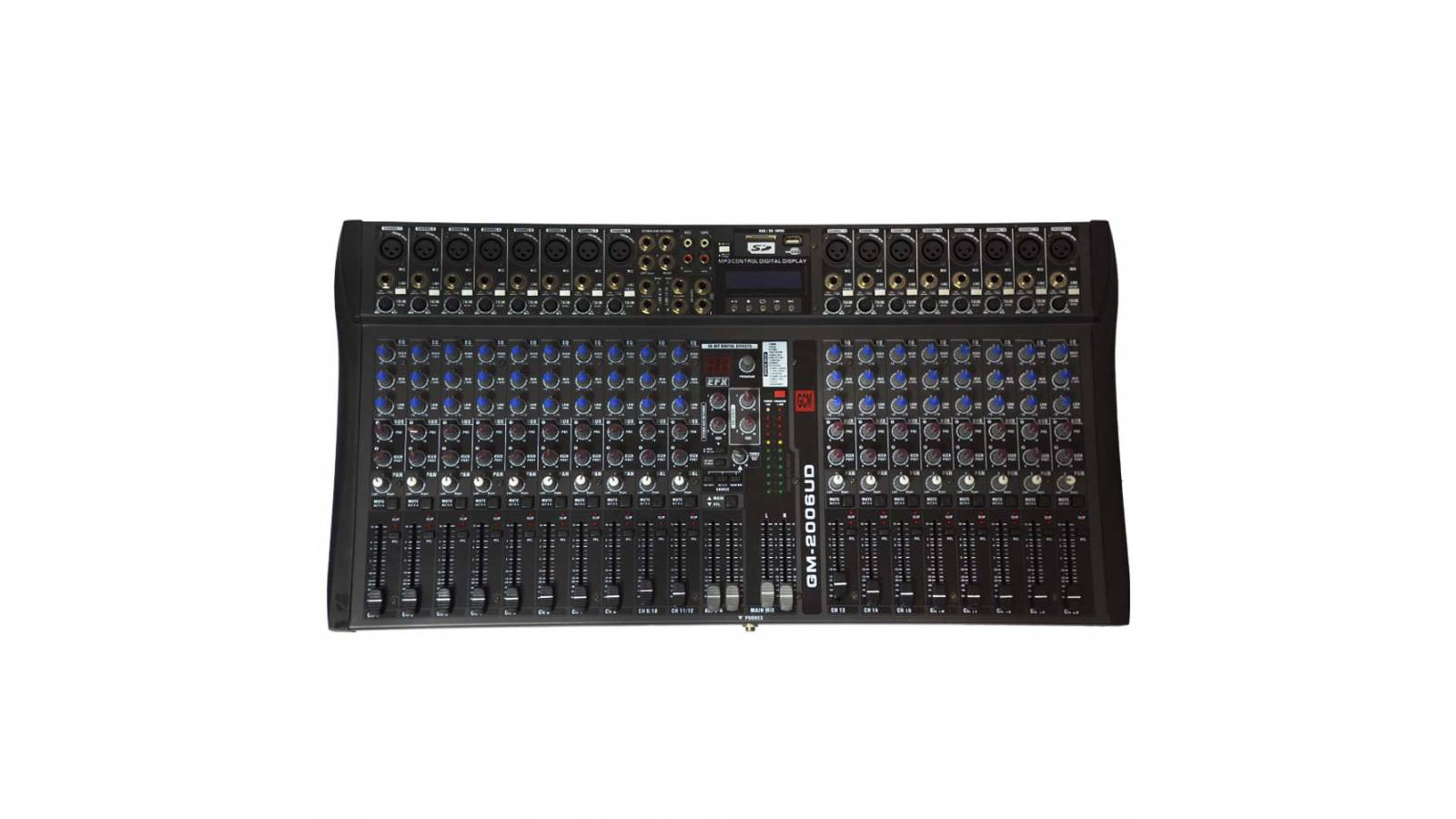 Consola Profesional 20 Canales Usb+Sd GM-2006UD 25% OFF
