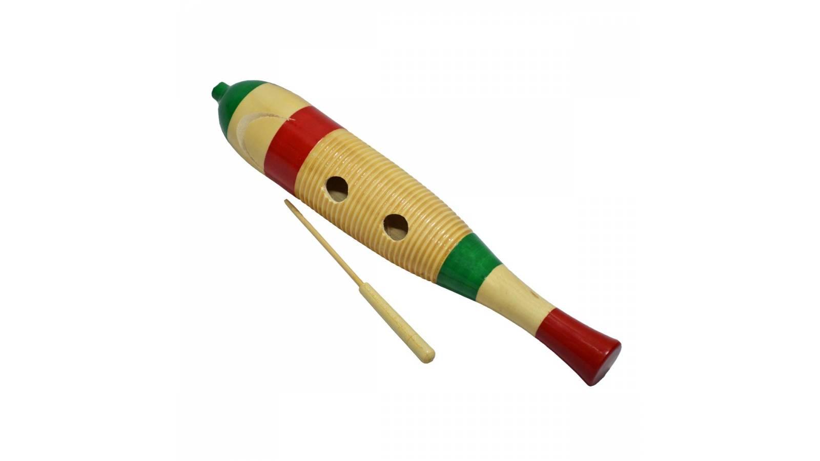 Guiro de madera Salsa / Merengue Estupendo sonido Fever