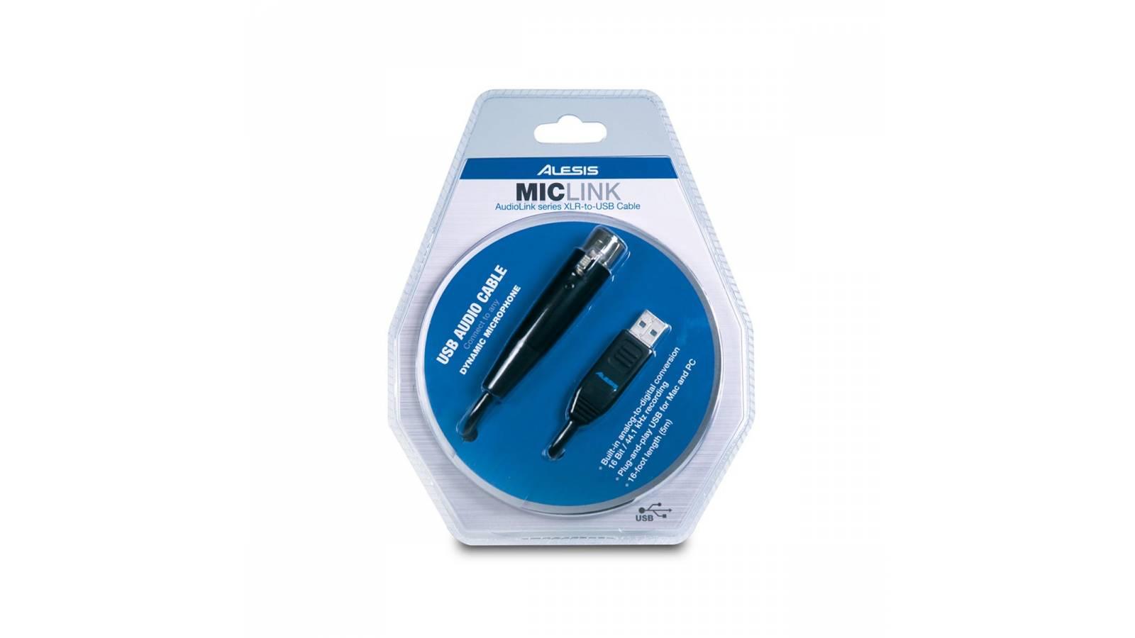 Adaptador De Microfono de XLR A USB Alesis Miclink Original!