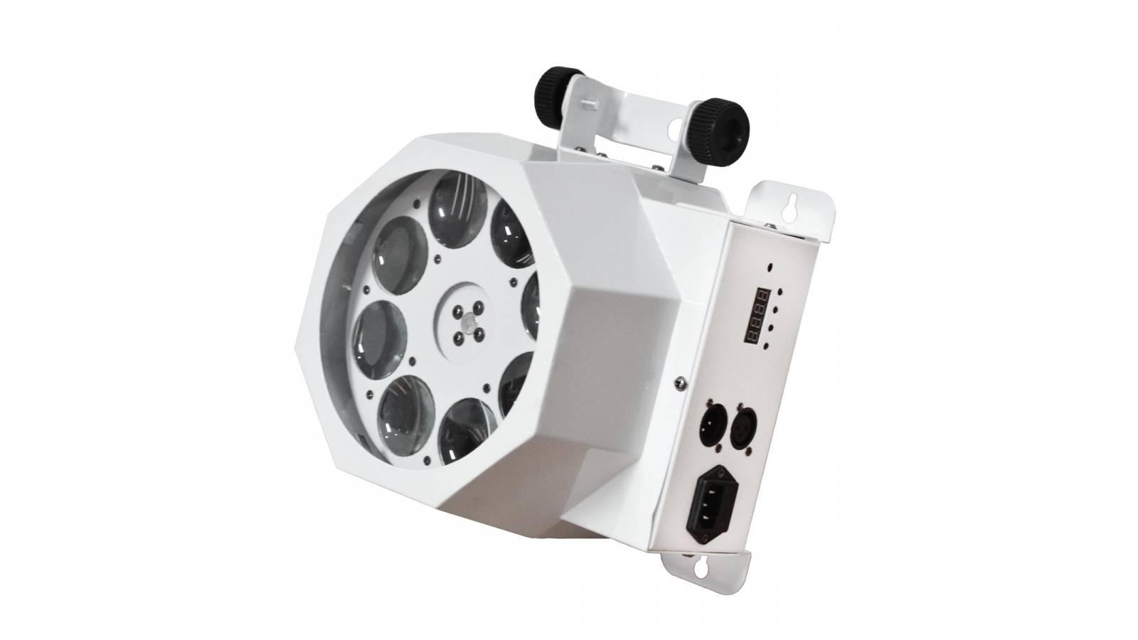 Efecto LED Audiorritmico 8 Bocas Gobo Attack RGBW GCM Pro!