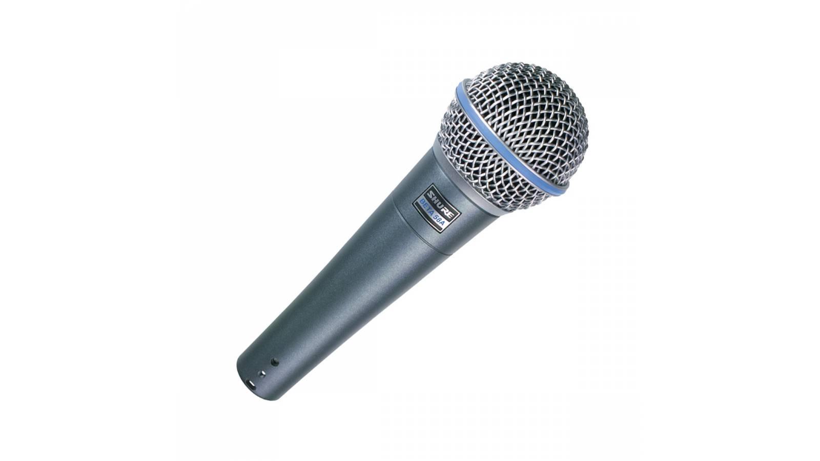 Micrófono Shure BETA 58A Vocal Dinámico Supercardioide de Salida Alta