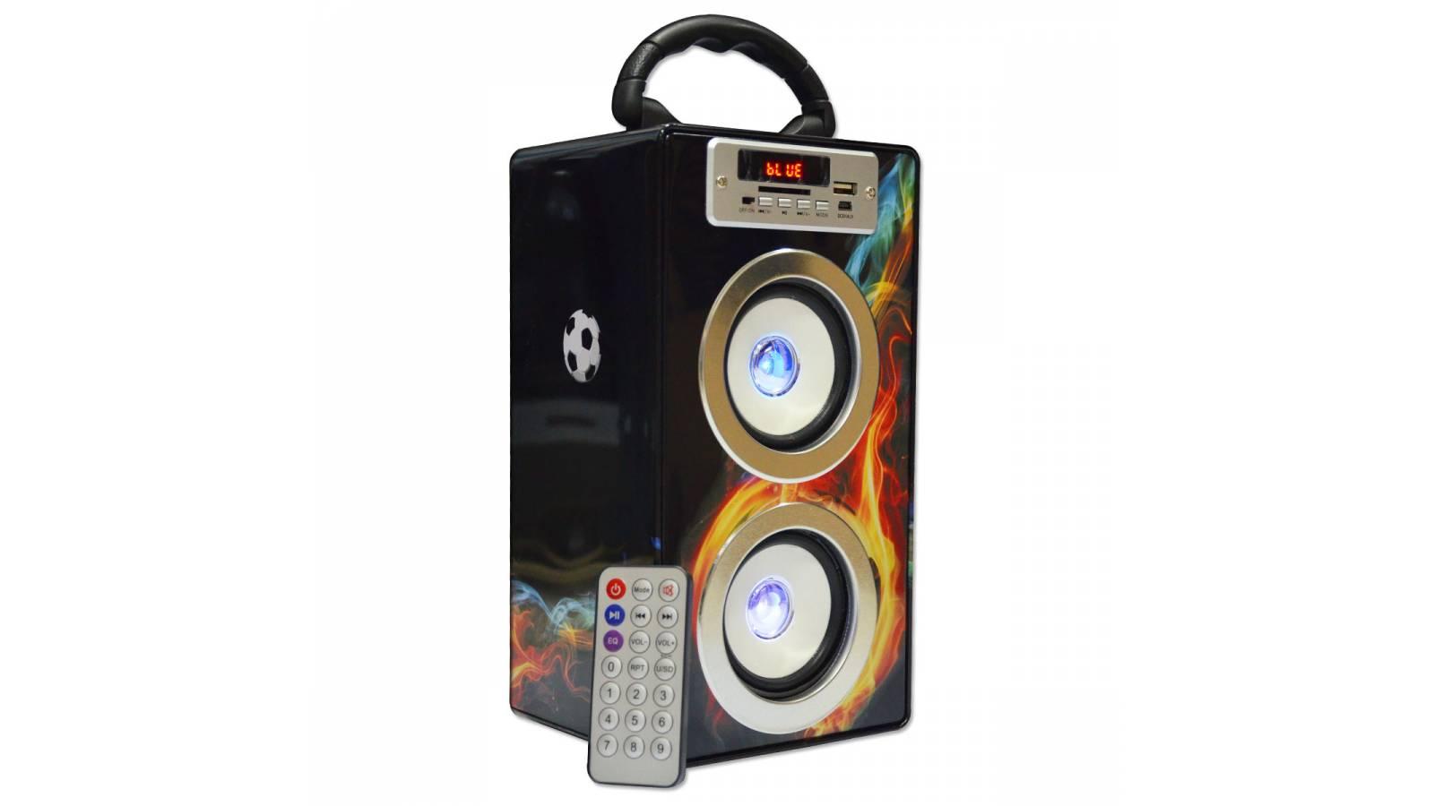 Parlante Portátil Estéreo C/control Usb Sd Y Fm + Bluetooth Oferta