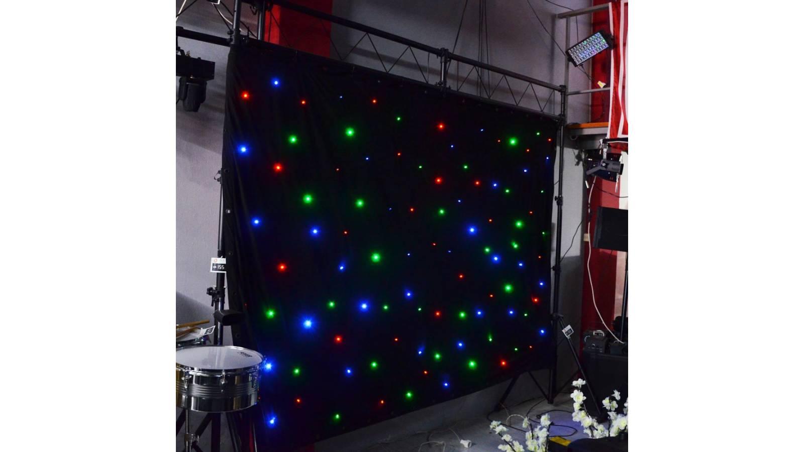 Telón Cortina LED RGB  para Decoración 3 x 2 metros Gcm Pro NUEVOS