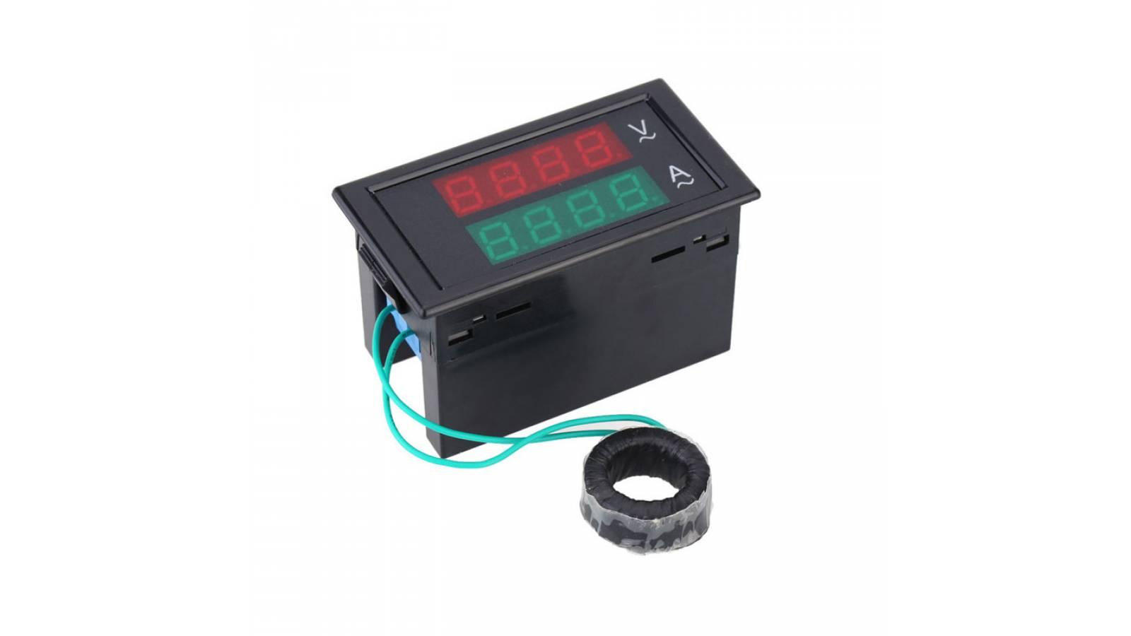 Voltímetro y Amperímetro Digital 2 en 1 GAV-200450 AC240-450V / 100.0A