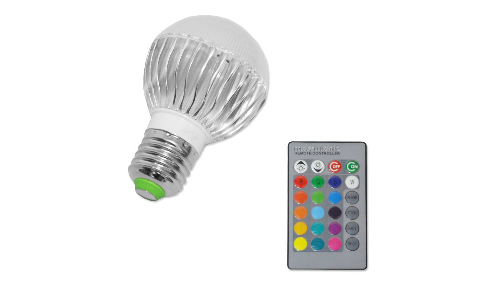 Lámpara Led Multicolor RGBW 220V + Control Remoto