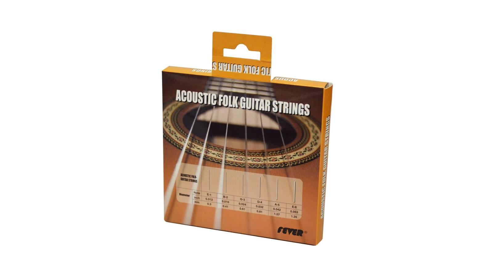 Juego de Cuerdas Acero Encordado Fever Guitarra Electro Acústica 012