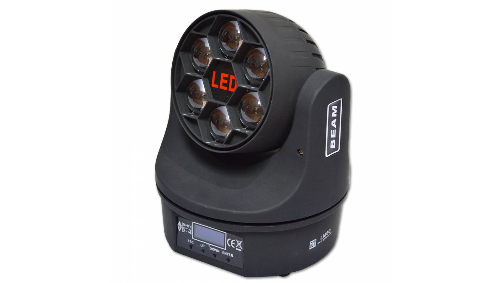 Cabeza Móvil Beam Moving Bee Eyes LM60 6x10W 4 en 1 RGBW Gcm Pro