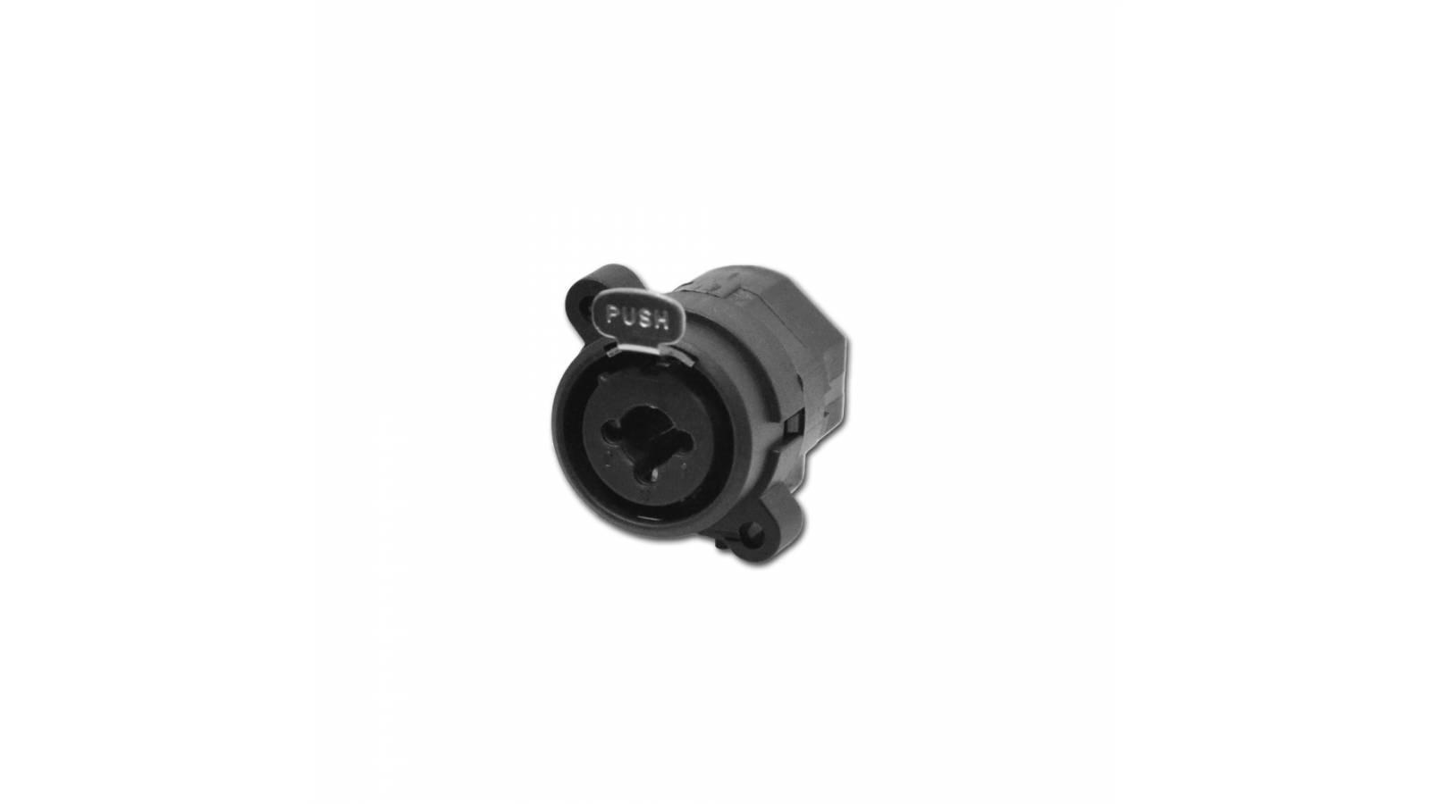 Conector XLR Canon Hembra / Plug  Chasis Combinado