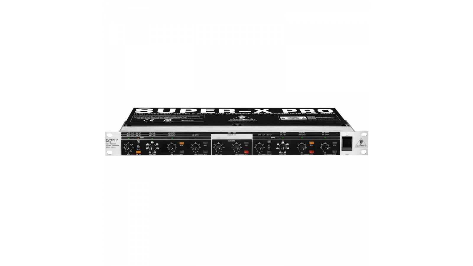 Crossover Activo Behringer CX-2310  2 vias Stereo 3 vias Mono