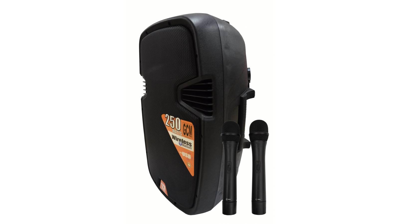 """Caja Activa/ Bafle G-2115EAU-BT 15"""" GCMpro Con Batería Interna, Bluetooth, FM, USB y SD"""