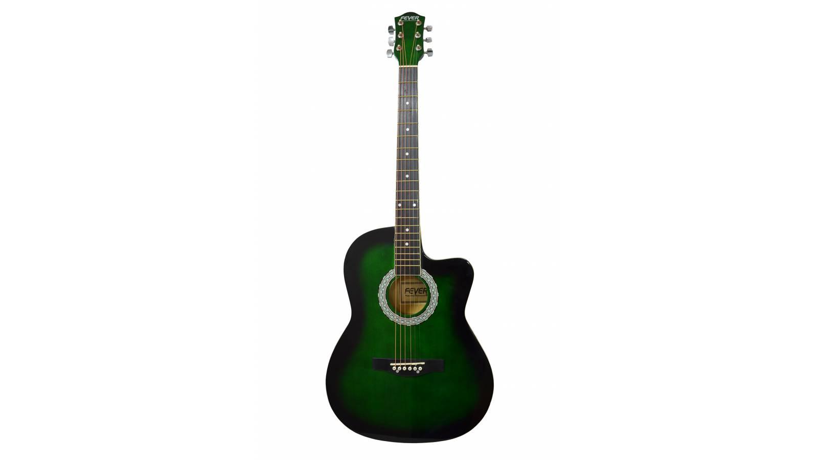 Guitarra Acústica Fever, Cuerdas de Acero, Calidad Superior + Funda de Regalo!