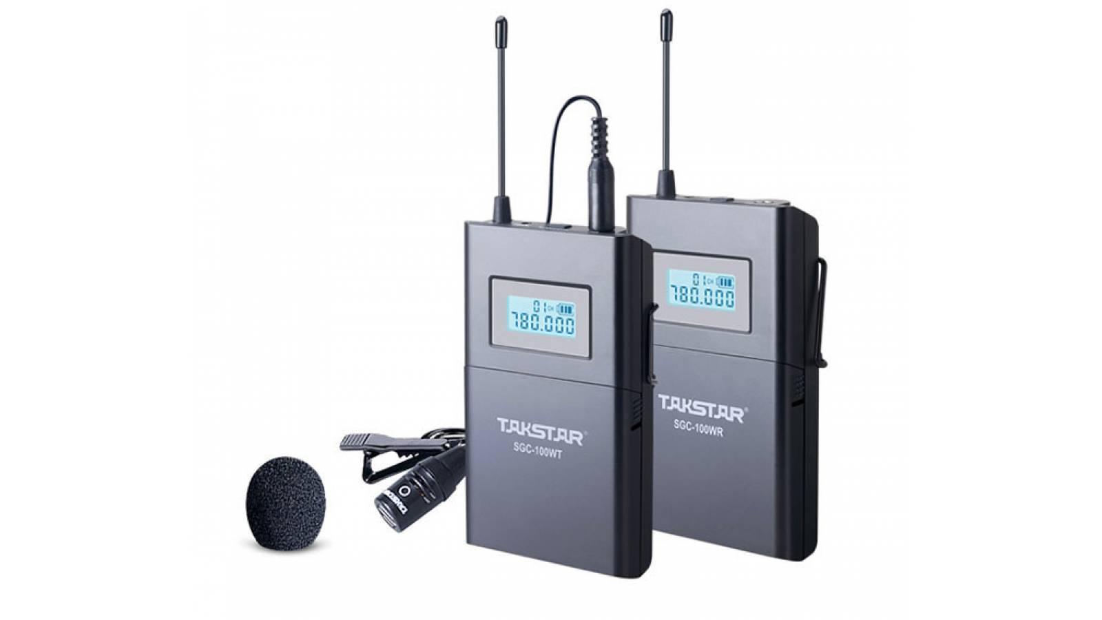 Sistema inalambrico para entrevistas solapero TAKSTAR SGC-100W