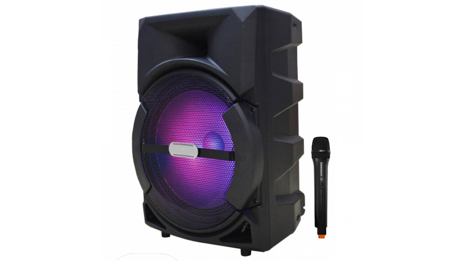"""Caja Bafle Potenciada G-12DK 1 x 12"""" con LED USB FM Bluetooth con bateria y 12V GCM Pro"""