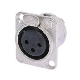 Conector XLR Canon Hembra Chasis Neutrik Original NC3FDL1