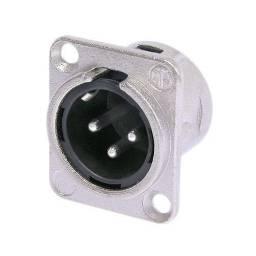 Conector XLR Canon Macho Chasis Neutrik Original NC3MDL1