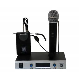 Microfono Inalambrico Doble Vincha + Mano GS-106V GCM Pro