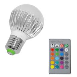 Lámpara Led 3W Multicolor RGBW 220V + Control Remoto