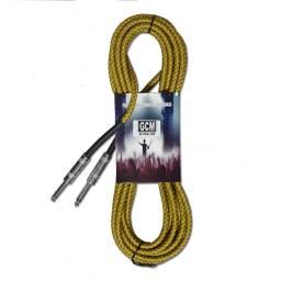 Cable Plug 14 a Plug 14 MONO Dorado 3 Metros Gcm Pro