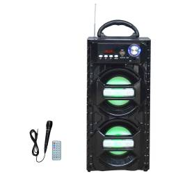 "Parlante Portátil Estéreo 2x4"" G-3605 Bluetooth LED Super Oferta"