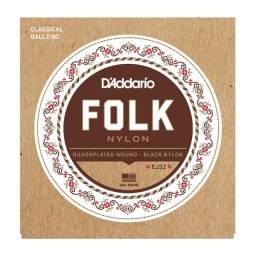 Juego de Cuerdas Encordado Daddario EJ32 Folk Nylon Acustica
