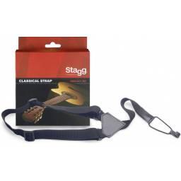 Correa Colgante de Nylon Stagg para Guitarras y Ukeleles SNCL001-BK