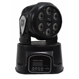Cabeza Movil Mini wash 6x10W + Beam 12W RGBW GCM Pro