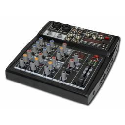 Consola GCM Pro 6 canales GOD-6.2USB con efectos, reproductor USB