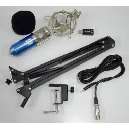 Kit de Microfono de Estudio Condensador USB ideal grabaciones G-101