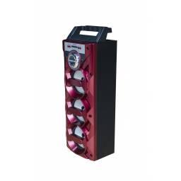 """Parlante Portátil LED Estéreo 3x5"""" G-877BT MP3, FM, USB, SD, BT y AUX"""