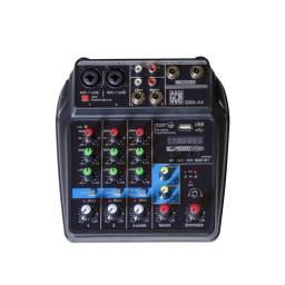 MixerConsola 3 canales + alimentacion por USB - GMA-A4 GCM DJ LINE