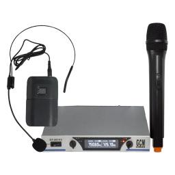 Microfonos inalambricos doble de mano y vincha GT-207HS GCM DjLine
