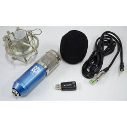 Microfono Condensador para Estudio G-101 + Antipop + Araña + Cable + Soporte