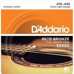 Juego de Cuerdas Encordado Daddario EZ900 Acustica Acero
