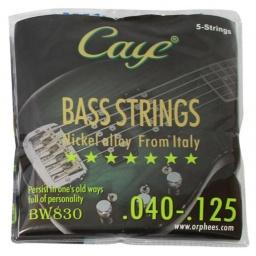 Encordado para Bajo Juego de 5 Cuerdas Orphee Caye Series bw830
