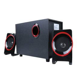 Home Theater 2.1 Sub Parlantes para Pc Tv FM USB BT G-225BT