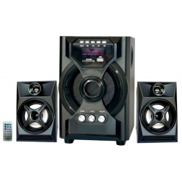 Home Theater 2.1 Sub Parlantes para Pc Tv con FM USB BT Mod. F34DC