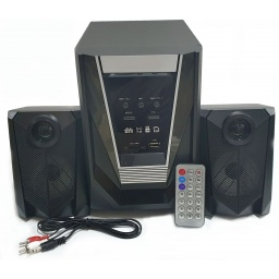 Home Theater 2.1 Sub Parlantes para Pc Tv con FM USB BT Mod. F31DC