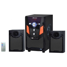 Home Theater 2.1 Sub Parlantes para Pc Tv con FM USB BT Mod. 076DC