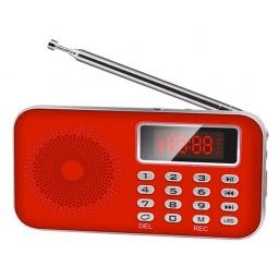 Radio AM/FM digital con bateria recargable luz display LCD USB L-619AM