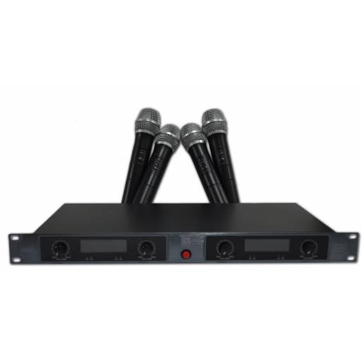 Kit 4 Micrófonos Inalambricos mano UHF x 4 Profesional Gcm Pro