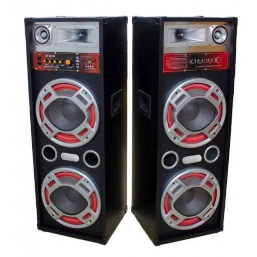"Kit 2 Bafles 2x10"" F620DT Activo + Pasivo USB FM Bluetooth"