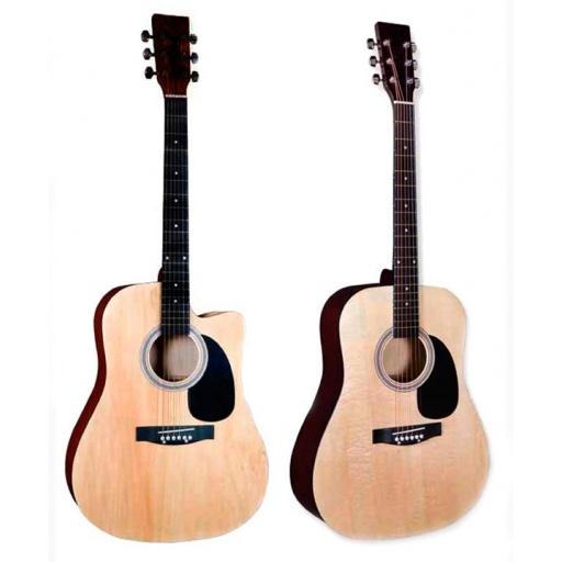 Guitarra Acustica FEVER FGA1041 Cuerdas de Acero, Calidad Superior