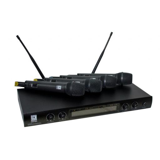 Kit 4 Micrófonos de Mano GKM-9004 UHF GCMpro